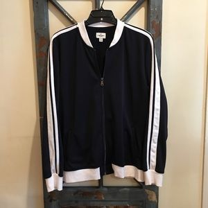 Navy/white casual track jacket